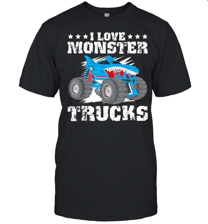 I Love Monster Trucks Stars Shirt