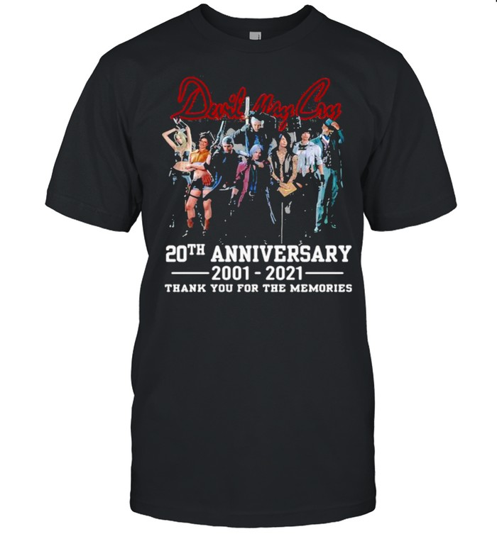Duril May Cry 20th Anniversary 2001 2021 Thank You For The Memories Shirt
