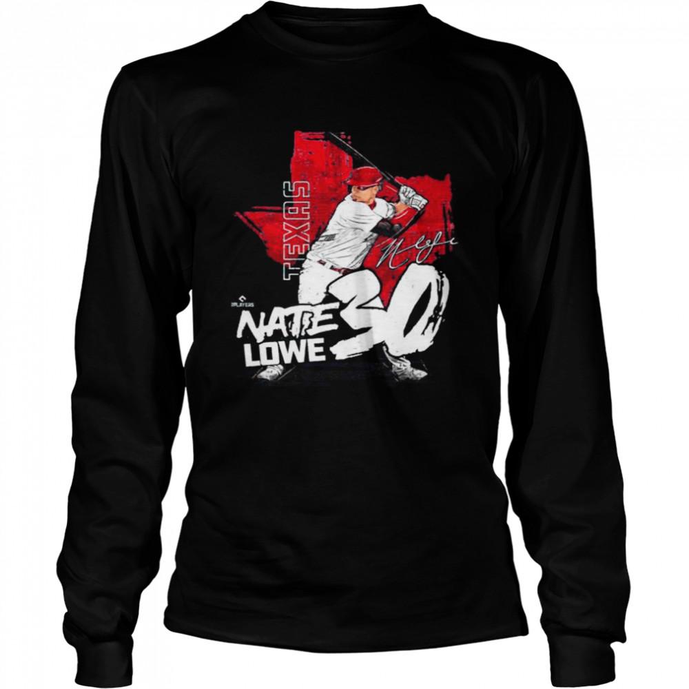 Texas Baseball Nate Lowe nate lowe signature shirt Long Sleeved T-shirt