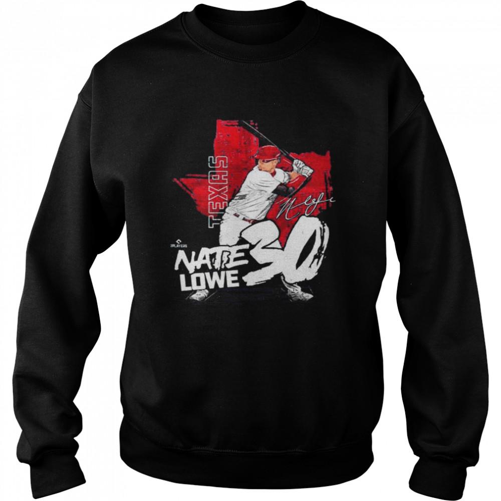 Texas Baseball Nate Lowe nate lowe signature shirt Unisex Sweatshirt