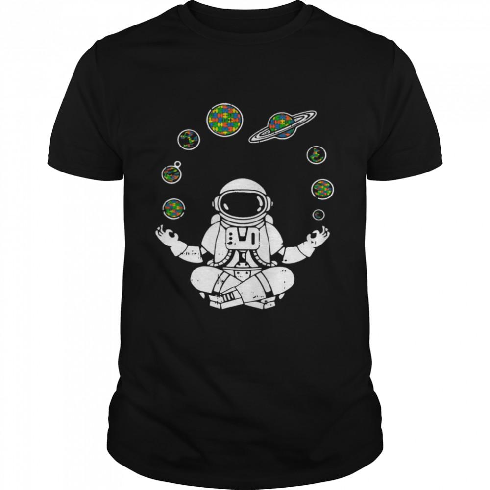 Yoga Astronaut Space Planets shirt
