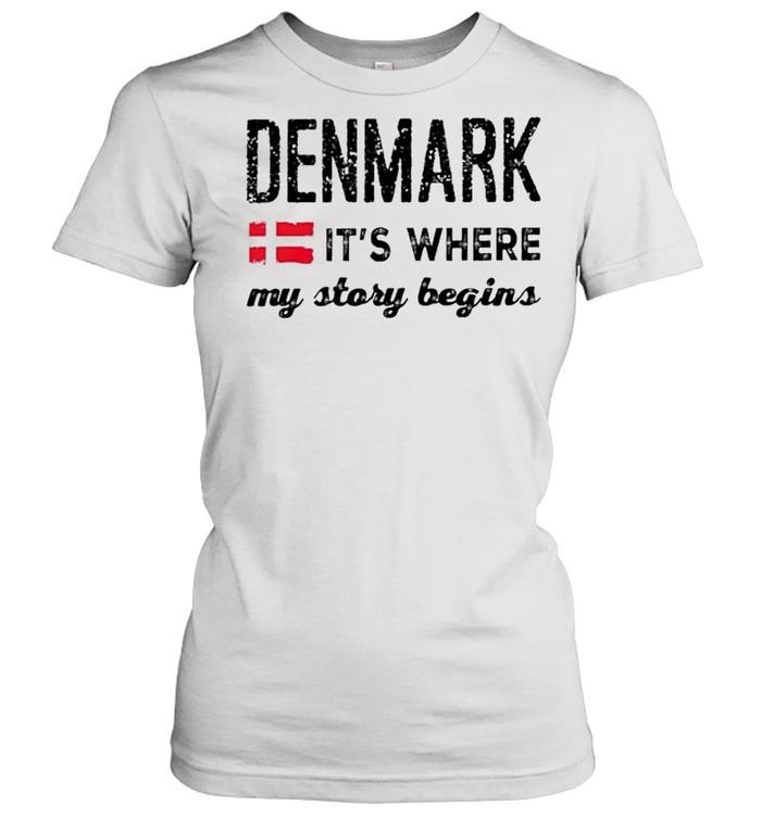 Denmark its where my story begins shirt Classic Women's T-shirt
