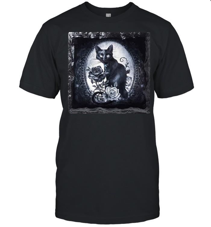Paracelsus Cat Roses Ceramic Coaster By Alchemy Gothic T-shirt Classic Men's T-shirt