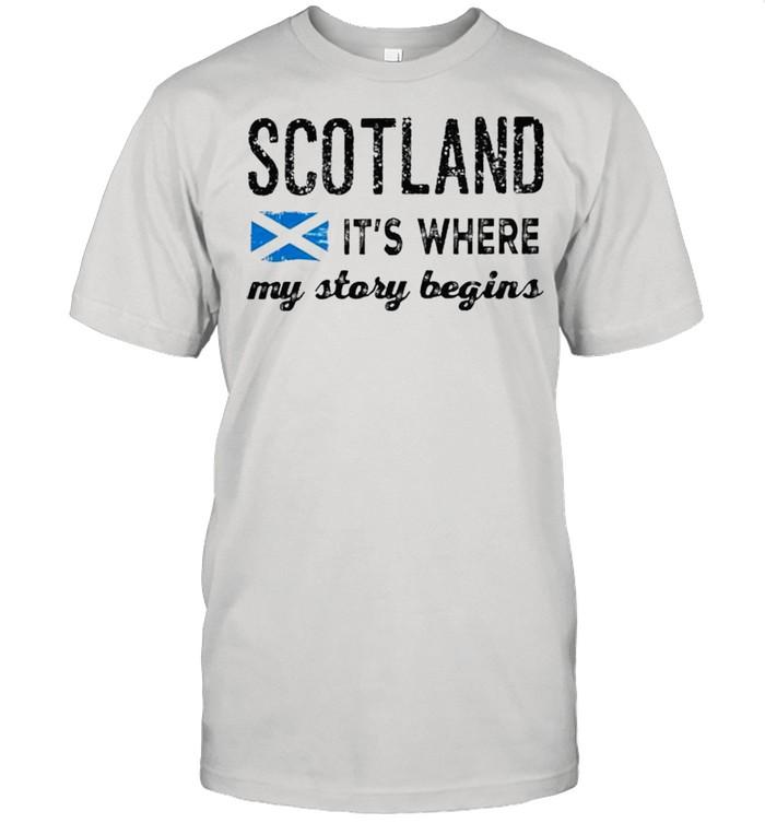 Scotland its where my story begins shirt Classic Men's T-shirt