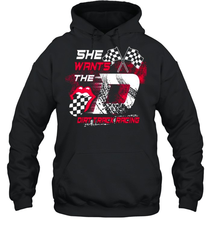 She Wants The Dirt Track Racing Unisex Hoodie