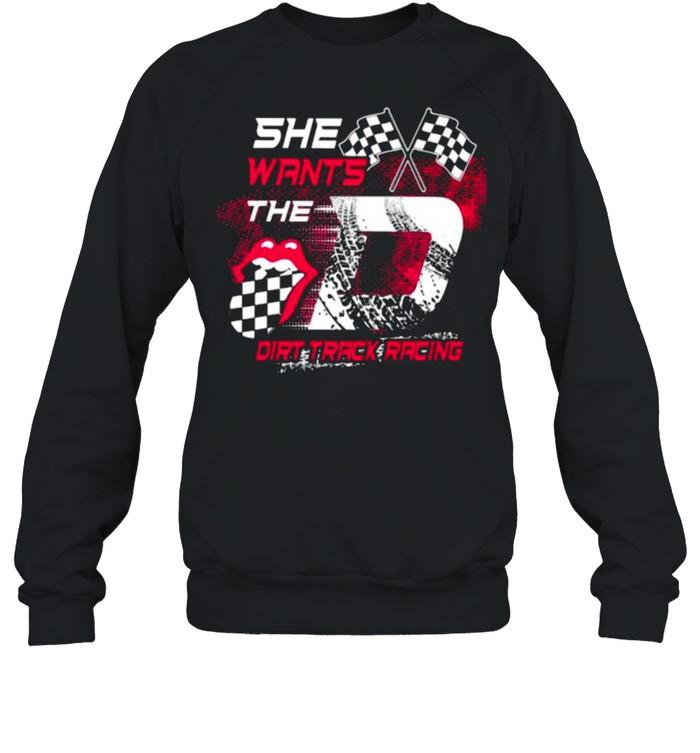 She Wants The Dirt Track Racing Unisex Sweatshirt
