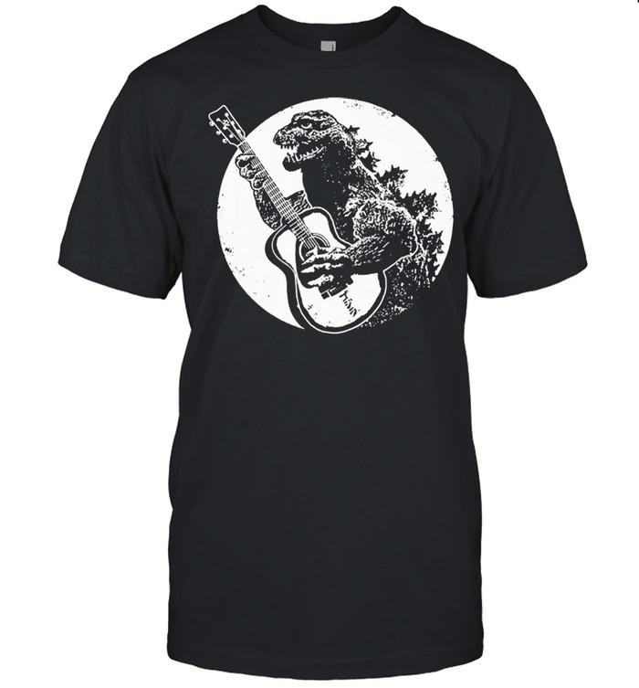 Dinosaur plays guitar shirt Classic Men's T-shirt