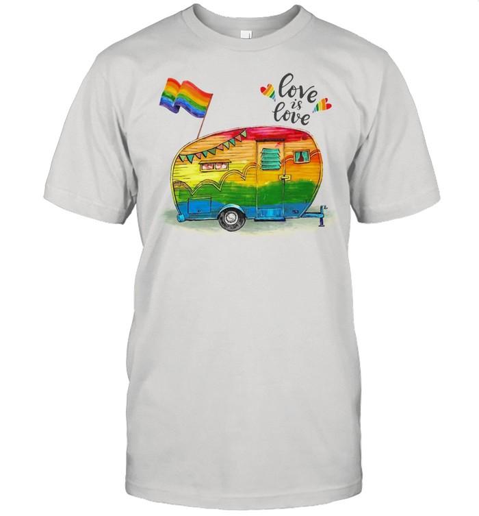 LGBT love is love Camping shirt Classic Men's T-shirt