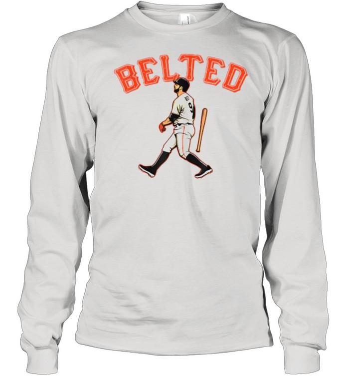 Belted Brandon Belt baseball  Long Sleeved T-shirt