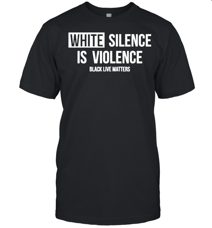 White silence is violence black live matters shirt Classic Men's T-shirt