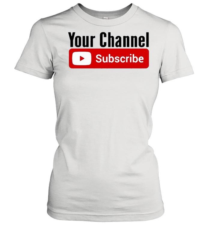 Subscribe YouTube shirt Classic Women's T-shirt