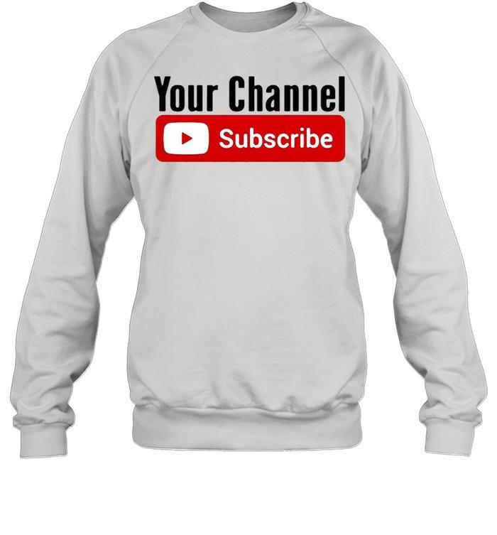 Subscribe YouTube shirt Unisex Sweatshirt