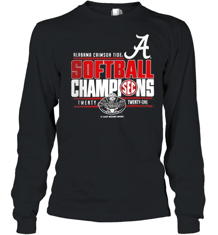 Alabama Crimson Tide 2021 SEC Softball Tournament Champions shirt Long Sleeved T-shirt