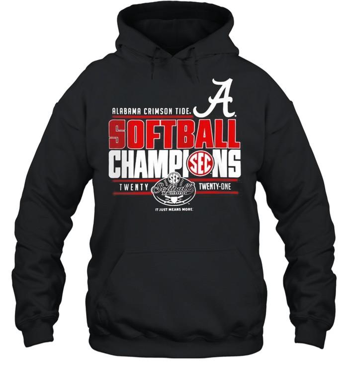Alabama Crimson Tide 2021 SEC Softball Tournament Champions shirt Unisex Hoodie