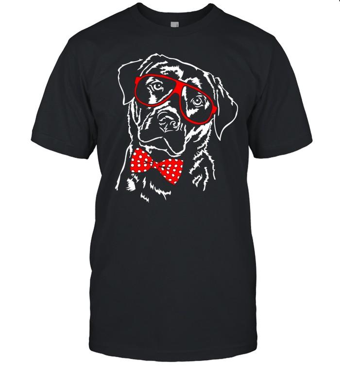 Lustiger Labrador Retriever Brille Labbi Hund Hunde Langarmshirt shirt Classic Men's T-shirt