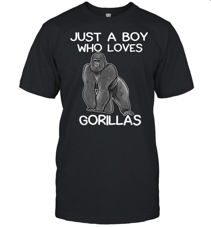 Just A Boy Who Loves Gorillas Gorilla shirt Classic Men's T-shirt