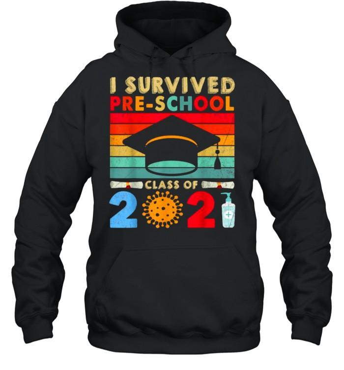 I Survived Pre-school Class 2021 Pandemic Vintage T- Unisex Hoodie