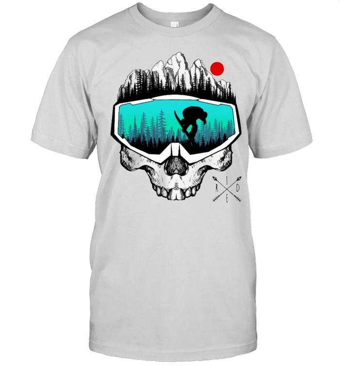 Snowboard skull mask shirt Classic Men's T-shirt