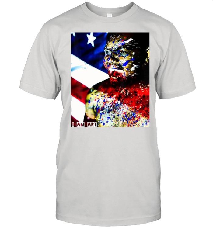 I am art Juneteenth BLM, ByTheseHands Artistic American Flag T- Classic Men's T-shirt