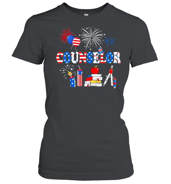 Pride Counselor American Flag Stethoscope shirt Classic Women's T-shirt