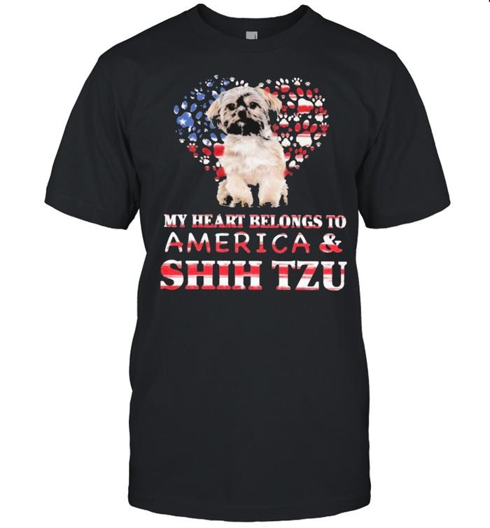 Shih tzu my heart belongs to shih tzu lovers shirt Classic Men's T-shirt