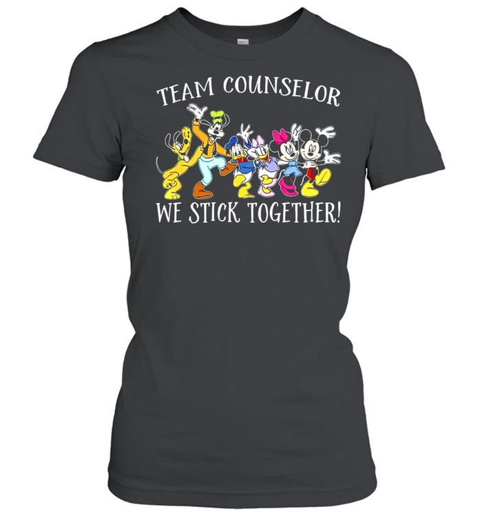 Disney Mickey Mouse Team Counselor We stick Together T-shirt Classic Women's T-shirt