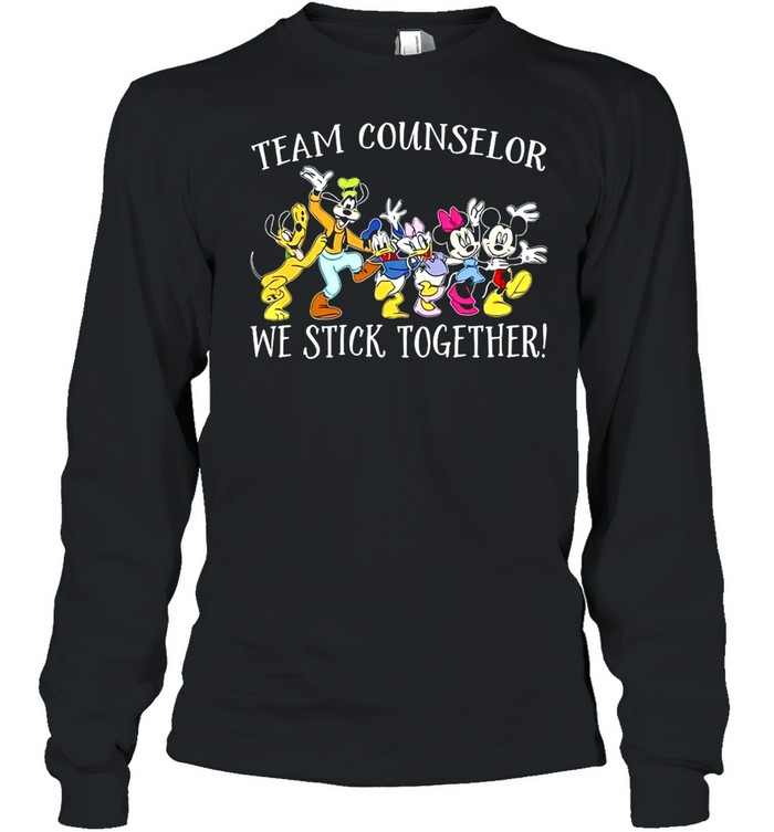 Disney Mickey Mouse Team Counselor We stick Together T-shirt Long Sleeved T-shirt