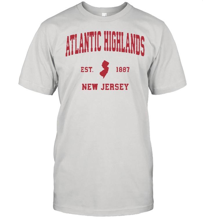 Atlantic Highlands New Jersey 1887 NJ Vintage Sports T- Classic Men's T-shirt