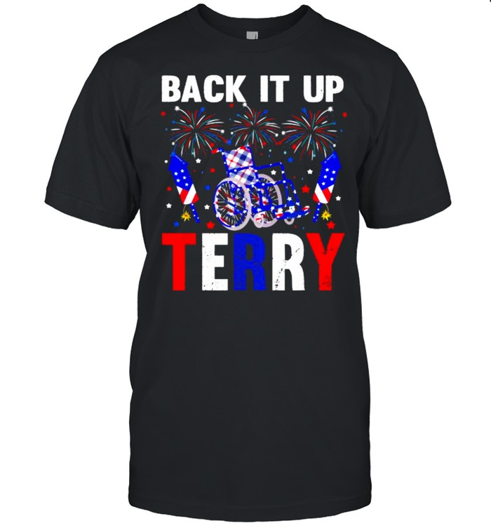 Back It Up Terry 4th Of July Firework American Flag T- Classic Men's T-shirt