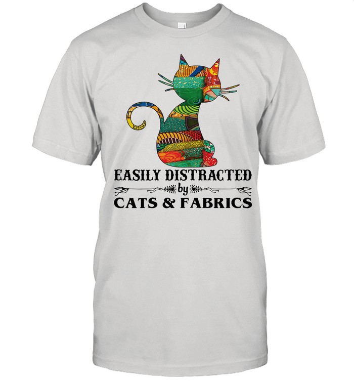 Easily distracted by cast and fabrics shirt Classic Men's T-shirt