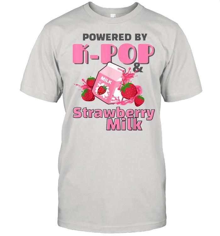 Kawaii Strawberry Milkshake Carton Korean Powered By KPop shirt Classic Men's T-shirt