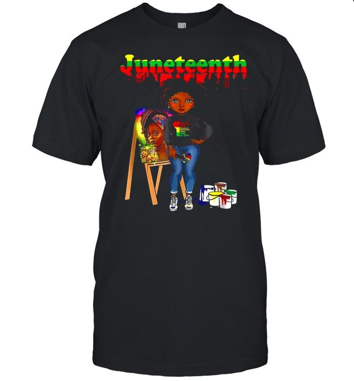 Juneteenth Black Women Melanin Artist  Classic Men's T-shirt