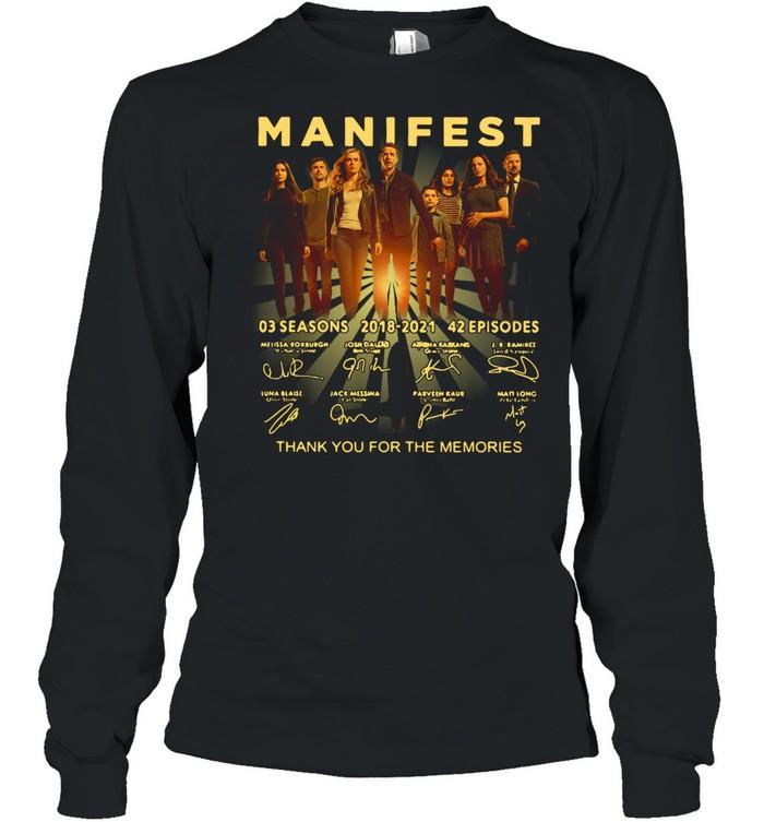 Manifest 03 Seasons 2018-2021 42 Episodes Signature  Long Sleeved T-shirt
