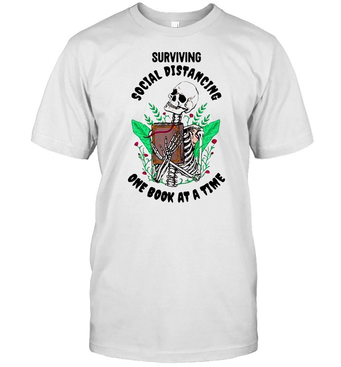 Surviving Social Distancing One Book At A Time  Classic Men's T-shirt