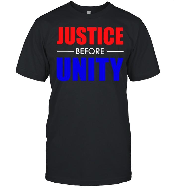 Justice before unity shirt Classic Men's T-shirt