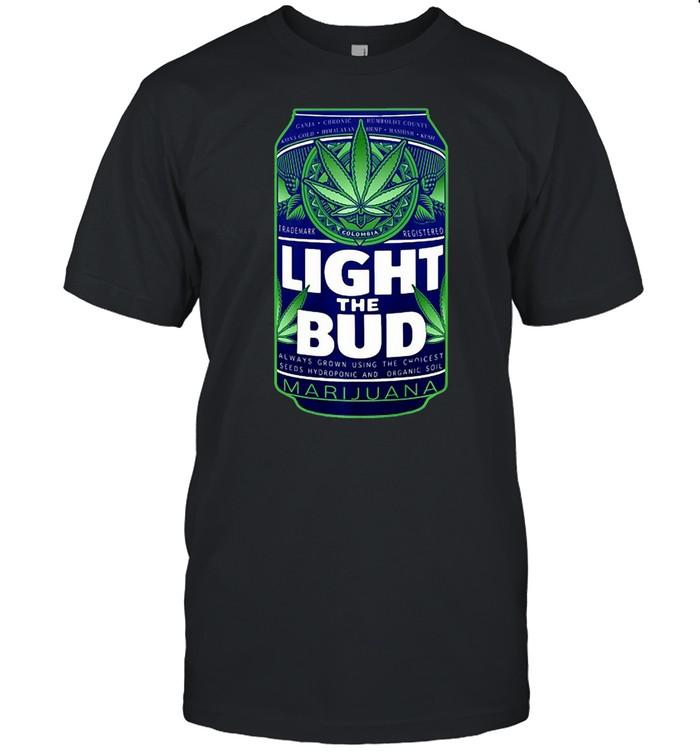 Light The Bud Funny Marijuana Weed Pot Beer Can T-shirt Classic Men's T-shirt