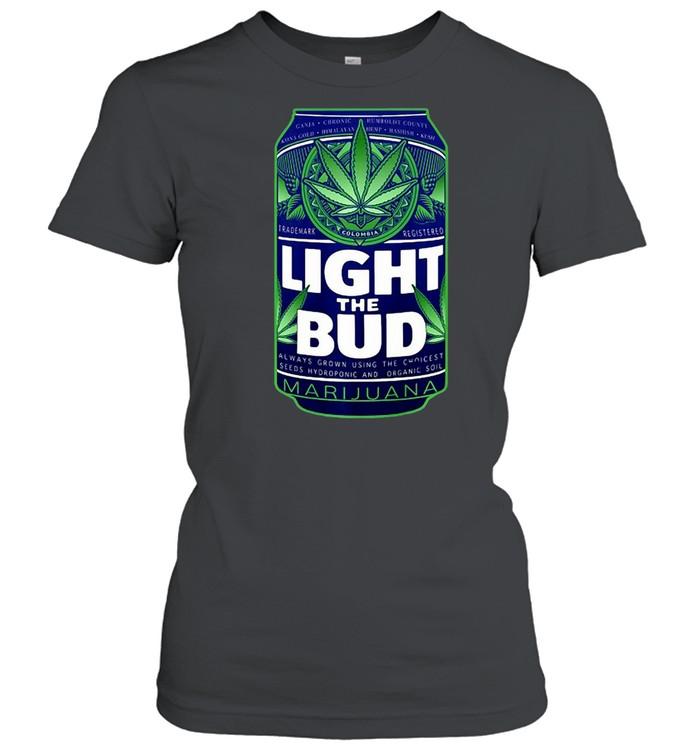 Light The Bud Funny Marijuana Weed Pot Beer Can T-shirt Classic Women's T-shirt