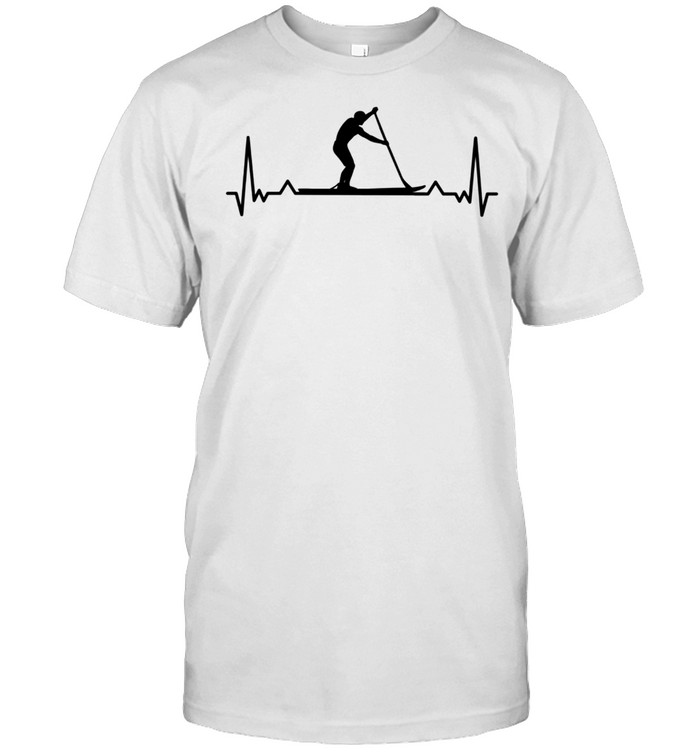 Paddleboarding for Paddle Boarders Heartbeat shirt Classic Men's T-shirt