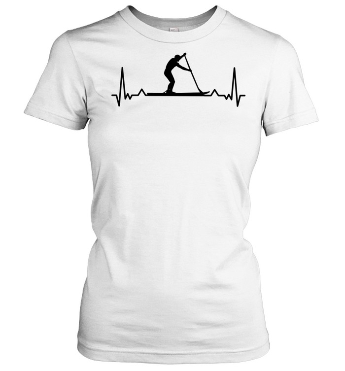 Paddleboarding for Paddle Boarders Heartbeat shirt Classic Women's T-shirt