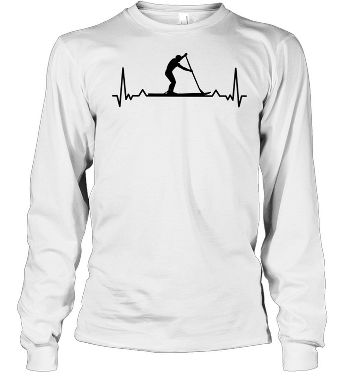 Paddleboarding for Paddle Boarders Heartbeat shirt Long Sleeved T-shirt