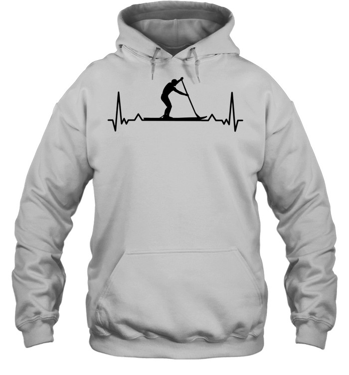 Paddleboarding for Paddle Boarders Heartbeat shirt Unisex Hoodie