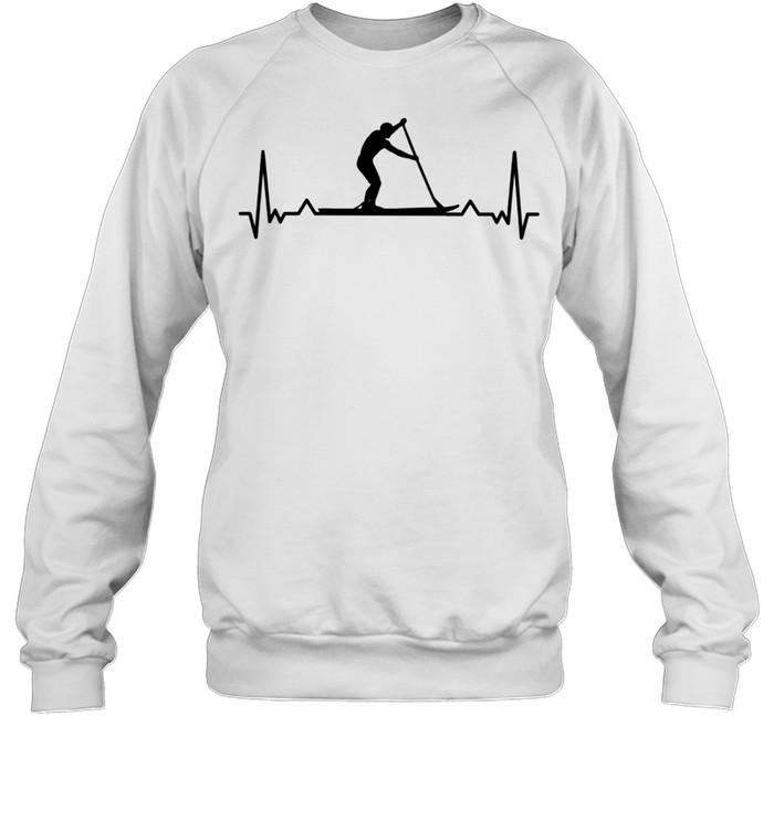 Paddleboarding for Paddle Boarders Heartbeat shirt Unisex Sweatshirt