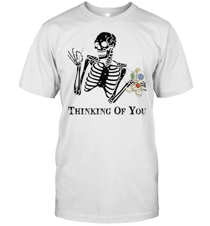 Skeleton thinking of you shirt Classic Men's T-shirt