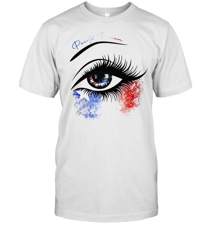Puerto Rican Women Gift Puerto Rican Flag Eye T-shirt Classic Men's T-shirt