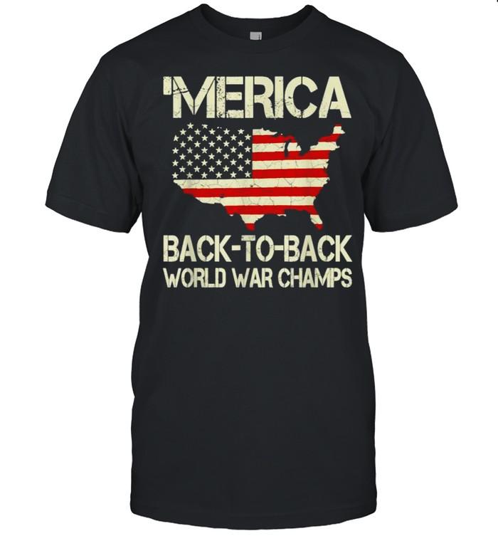 Merica Back To Back World War Champs T- Classic Men's T-shirt