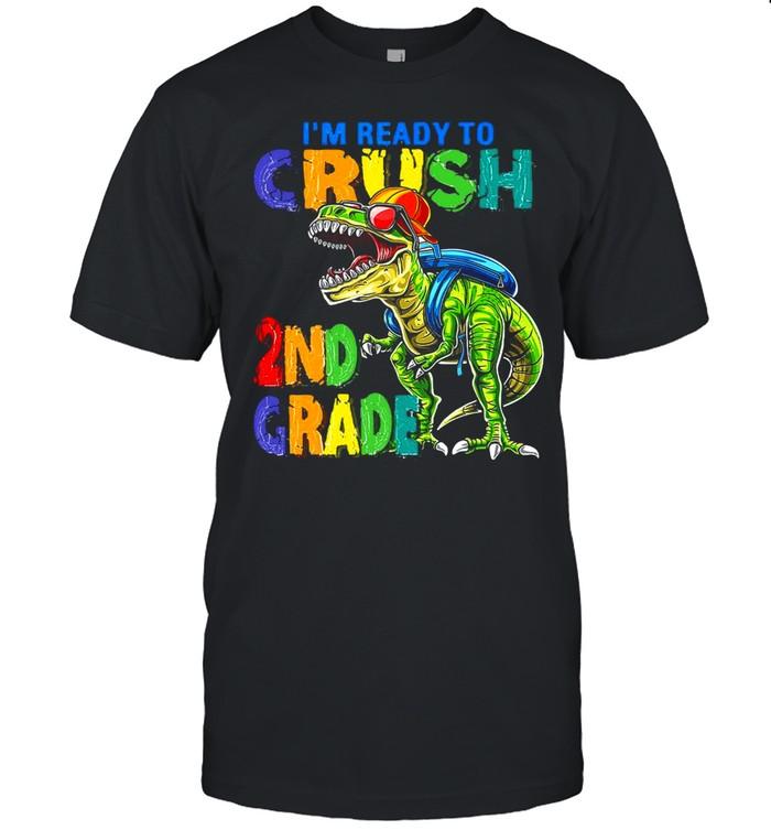 Dinosaur I'm Ready To Crush 2nd Grade T-shirt Classic Men's T-shirt