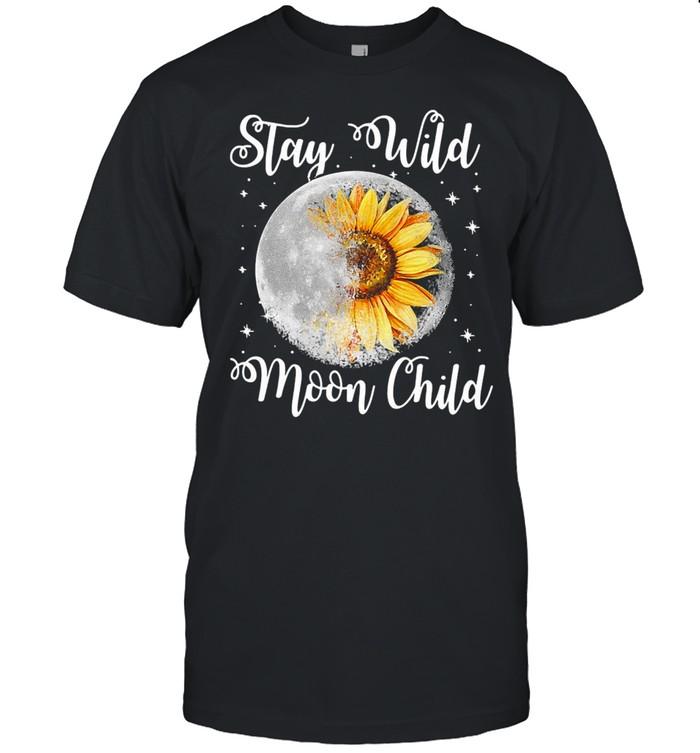 Stay Wild Moon Child Hippie Sunflower  Classic Men's T-shirt