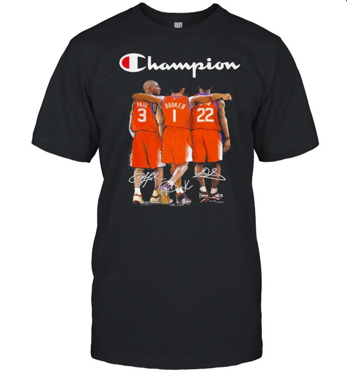 Champions Phoenix Suns Paul Booker Deandre Ayton signature shirt Classic Men's T-shirt