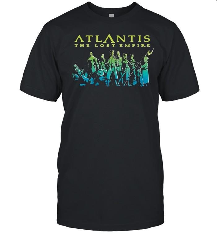 Disney Atlantis The Lost Empire Characters Gradient T-shirt Classic Men's T-shirt