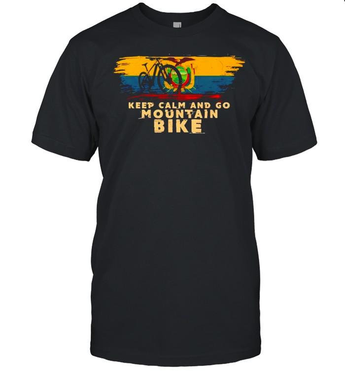 Keep calm and go mountain bike shirt Classic Men's T-shirt